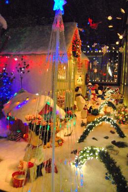 I love this Christmas window display