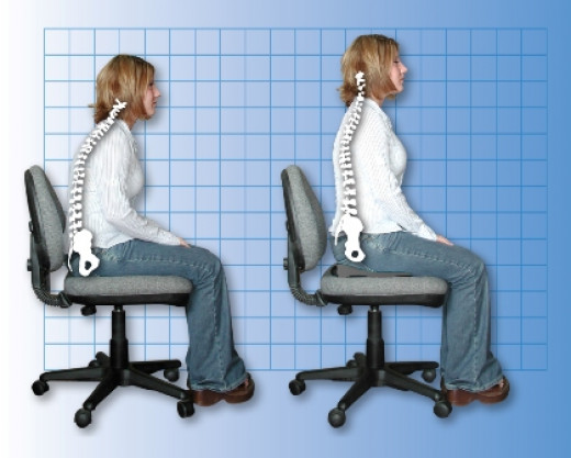 Proper sitting posture should be adopted