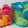Review of The Lovely Crow Etsy Shop featuring Crochet Baby Boots Pattern