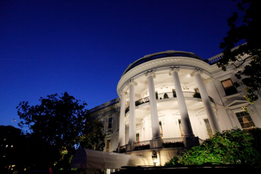 The White House at night looks nice, right Mitt!