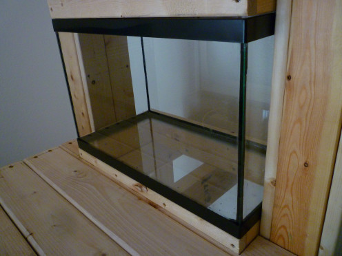 Finished aquarium drying.