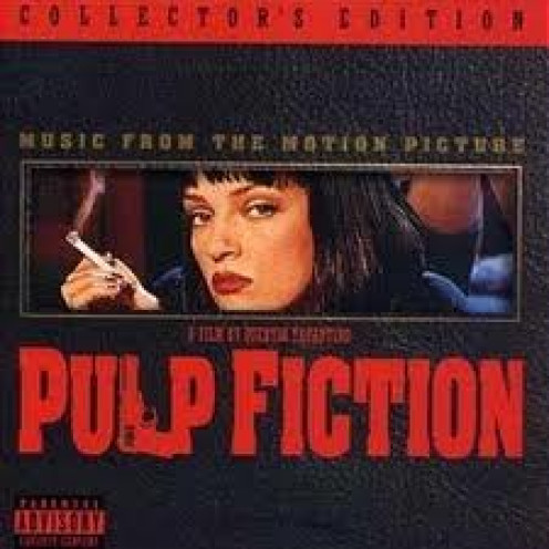 Pulp Fiction is a gangster film starring Bruce Willis, Samuel Jackson and John Travolta. It is rated R for extreme language and violence.
