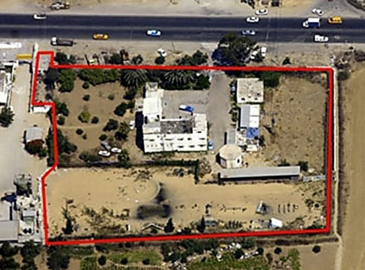 Along the main lateral road in Gaza behind high walls is another Hamas terrorist training camp