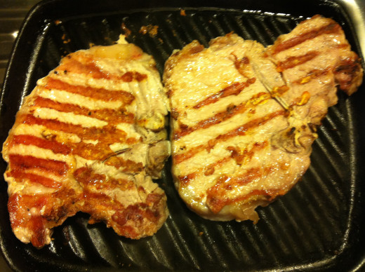 Griddled pork chops