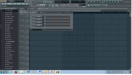 The Drum Pattern on Fruity Loops
