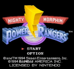 Mighty Morphin Power Ranger (1994)  for the Super Nintendo - Thoughts