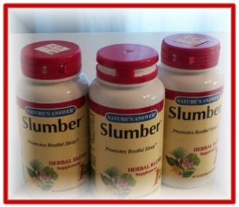 Slumber manufactured by Nature's Answer and can be purchased at Wildwood Herb Shop.