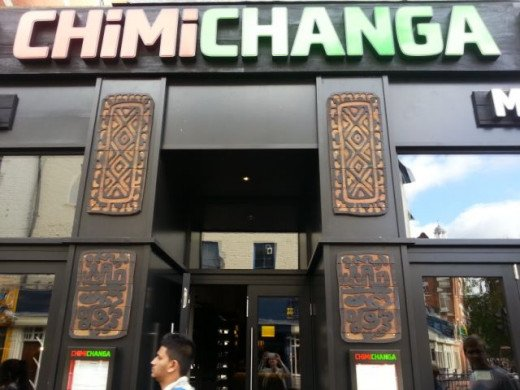 Chimichanga Mexican restaurant in Ealing
