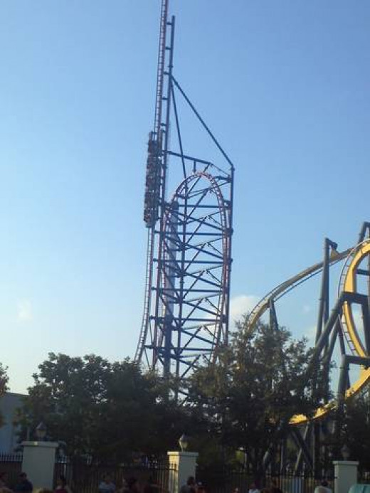 Six Flags Roller Coasters - Mr. Freeze Reverse