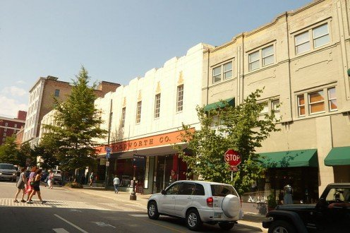 Woolworth's at 25 Haywood St. in Downtown Asheville NC is now an arts center.
