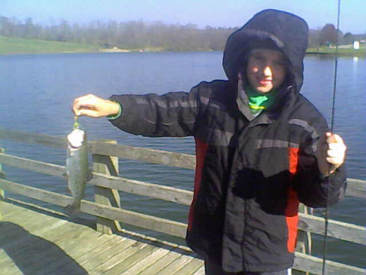 This rainbow trout like the others was caught on a 1/16 oz. rainbow trout colored rooster Tail