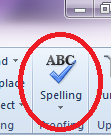 Checking for spelling using Word makes proofreading and editing simple.