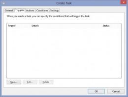"Click the ""Begin the task"" drop-down menu and then click ""At log on."" Click ""OK."""