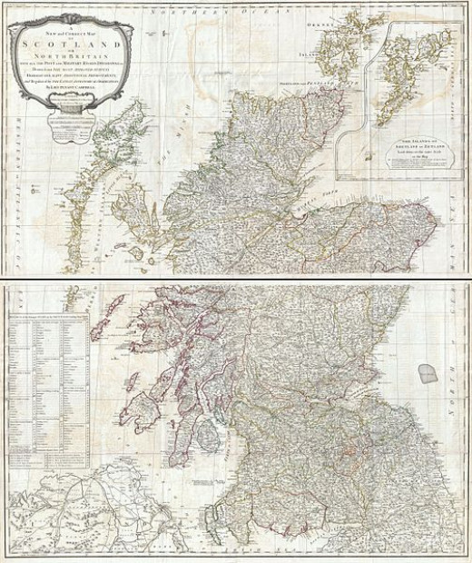 1794 Campbell map of Scotland
