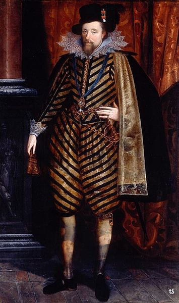 Portrait of King James VI of Scotland who was also King James I of England