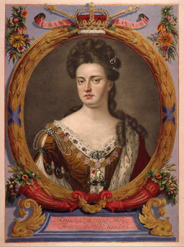The British monarch Queen Anne, last ruler in the House of Stewart