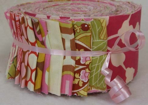Jelly Roll of fabrics by Amy Butler