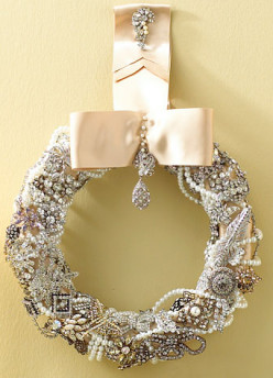 Repurpose Jewels into Christmas Decorations