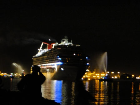 Largest Cruise Ship in World -Carnival Dream leaving Cape Carnaveron
