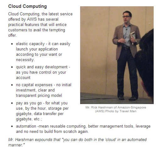 Screenshot of the Lecture on Cloud Computing (Source: Travel Man aka Ireno Alcala)