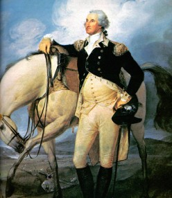 George Washington and the horse he rode in on.