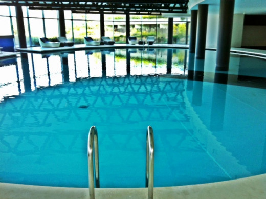 The pool indoors secondly