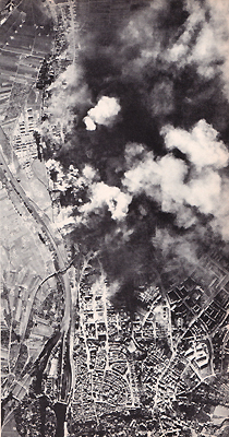Raid over Schweinfurt, Germany in WW II