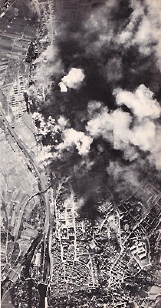 Raid over Schweinfurt, Germany in WW II
