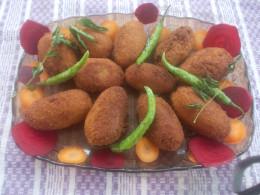 Tapioca veg cutlets are ready to serve