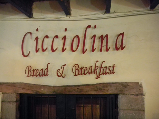 Entrance sign to Ciccolina Bread & Breakfast