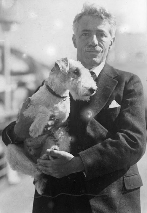 Fritz Kreisler and his Dog