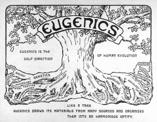 The art and science of Eugenics was developed in Britain by Galton and applied in the US, before being taken up by the Nazis and following transhumanists.