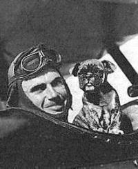 """Kindley's mascot dog was named """"Fokker""""."""