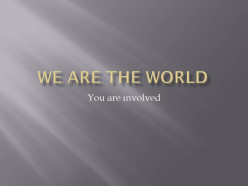 A message for all ages: we are the world-Michael Jackson