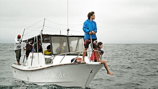 Small Ocean Fishing Boat