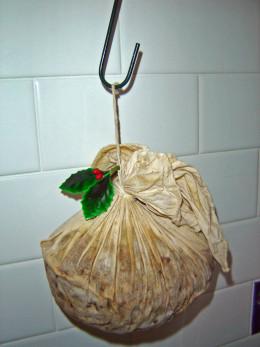 Christmas Pudding on a hook