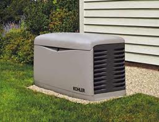 A Stationary Standby Generator looks a lot like an central air conditioner unit alongside a house or building.