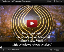 Have you ever made a slide show video with Windows Movie Maker?