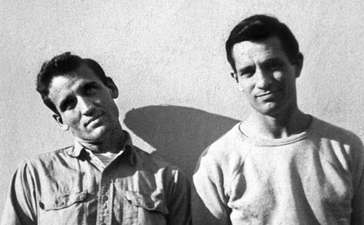 The real Neal Cassady (The Adonis of Denver) alongside Jack Kerouac (on the right)
