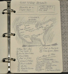 Route Map & Chapters sketched out by Jack.