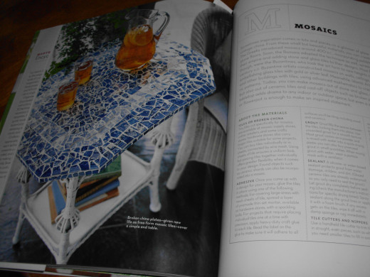 A page of the book showing mosaics