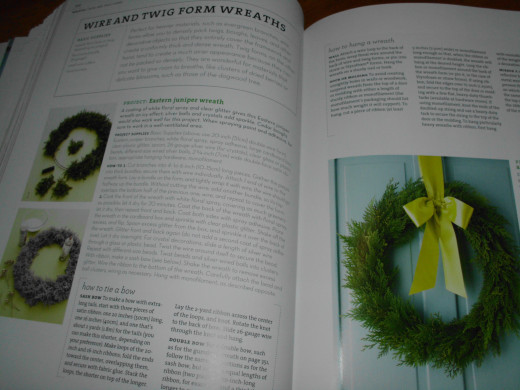 a page from the book covering wreath making