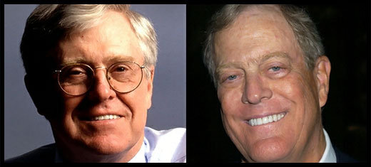 two of the Koch Brothers