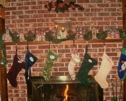 Stockings hung by the chimney with care . . .