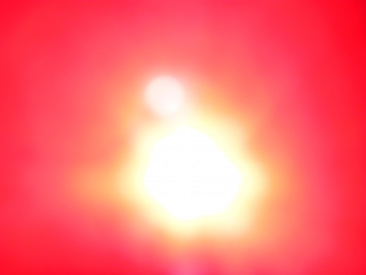 This a much clearer image of the orb just outside our Sun's glare.