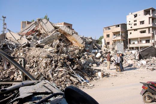 Israel/Gaza conflict destruction