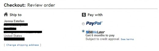 The Bill Me Later Option when checking out with Ebay.