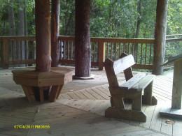 Inside the tree house