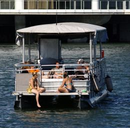 Hang Out on a Pontoon Boat