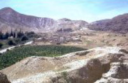 The remains of ancient Jericho